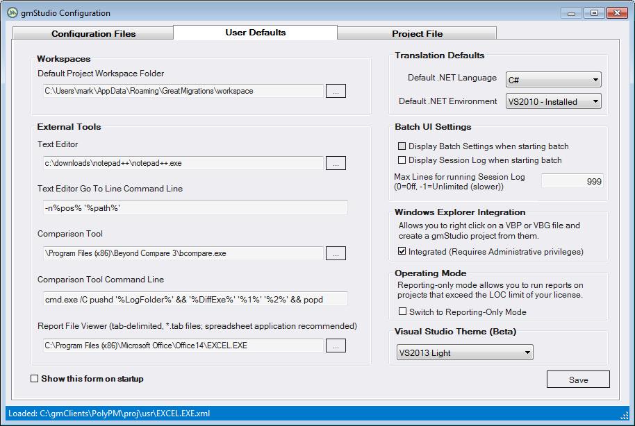 gmStudio Configuration Form - gmStudio Documentation - gmPortal